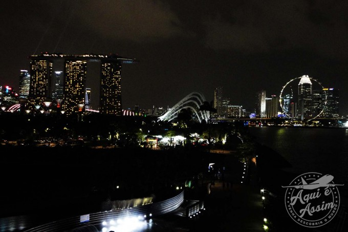 Vista de Cingapura do Marina Barrage