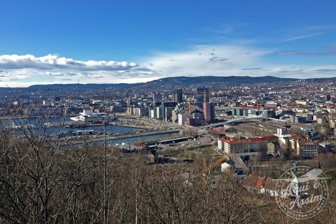Vista de Oslo no caminho | Aqui é Assim