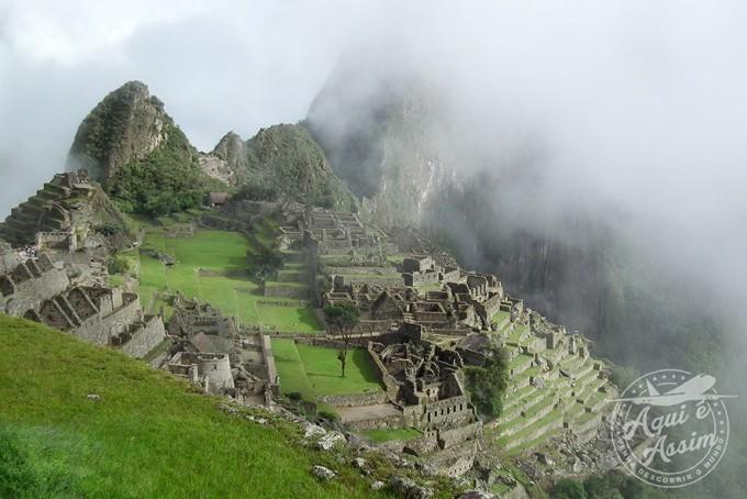 Primeira vista de Machu Picchu