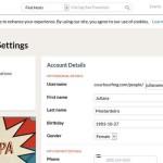 Configurações da conta e notificações