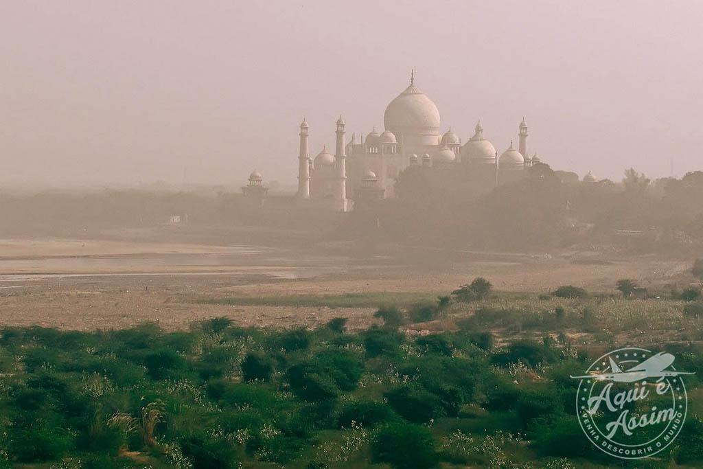 Taj Mahal visto a partir do Forte de Agra