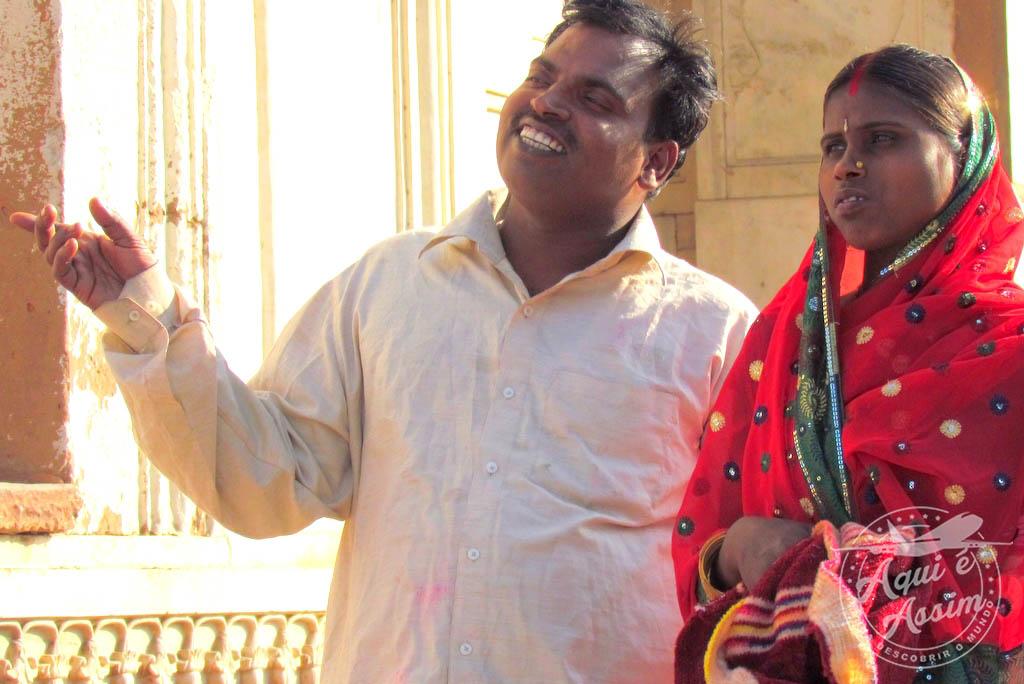 Típico casal Indiano