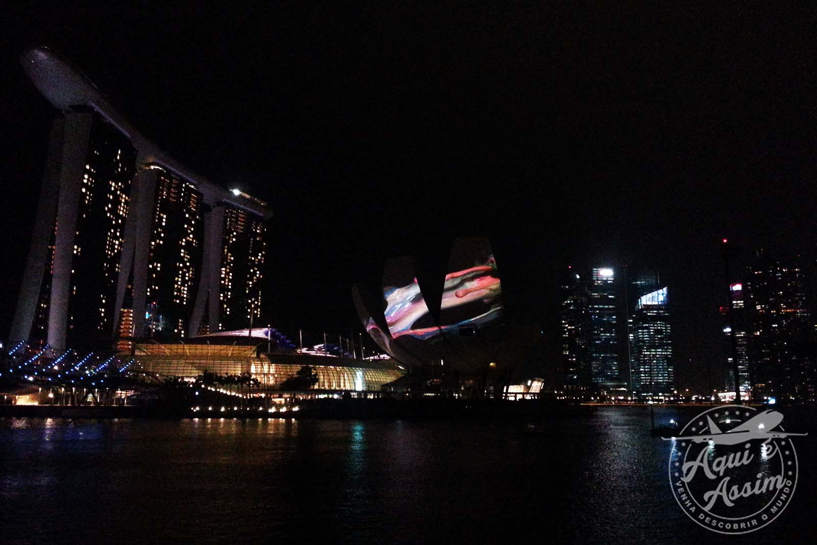 Show de luzes na Marina Bay
