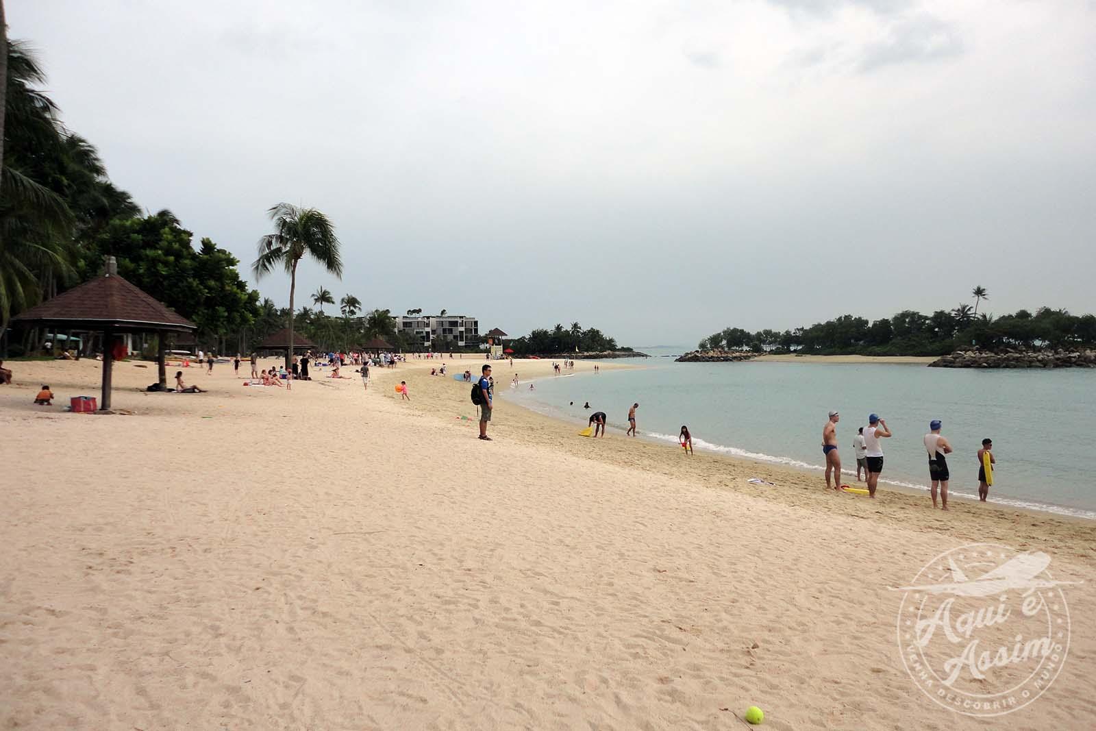 Praia de Tanjong no Sentosa