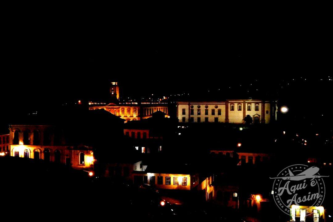 Parte do Centro Histórico a noite