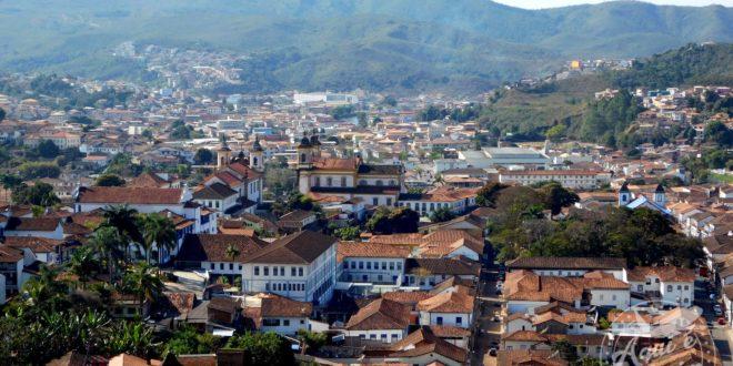 Vista da cidade de Mariana
