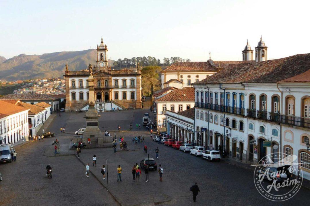 Praça Tiradentes vista da Escola de Minas
