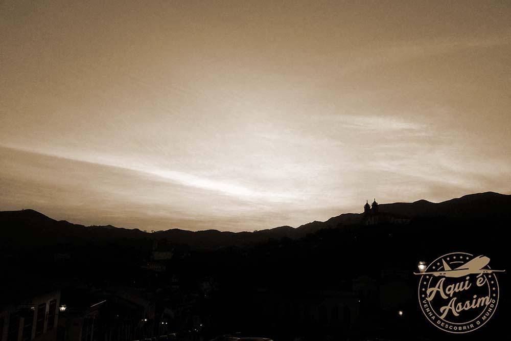 Pôr do sol em Ouro Prêto