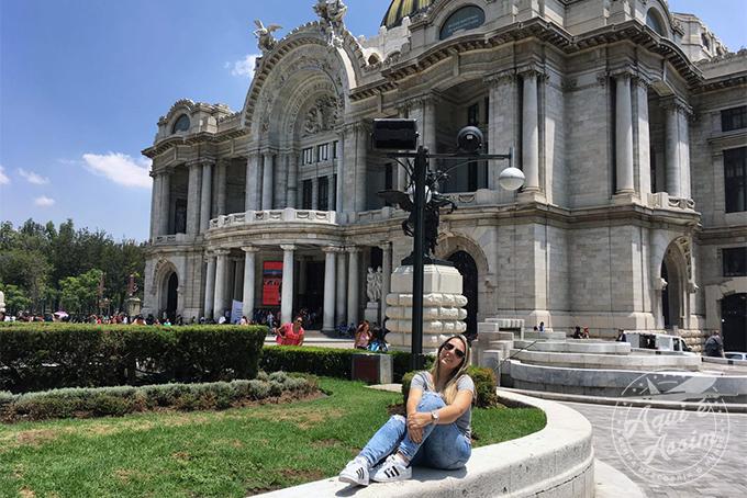 Palácio Bellas Artes na Cidade do México