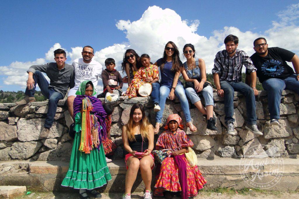 Amanda em sua experiência em Chihuahua no México