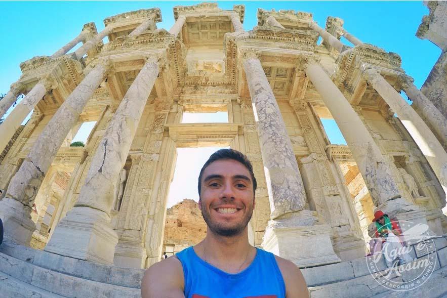 Alex em seu intercâmbio na Turquia